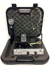 VHF DUAL WIRELESS HANDHELD,HEADSET, LAPEL, MICROPHONE MIC SYSTEM, UT4 TYPE