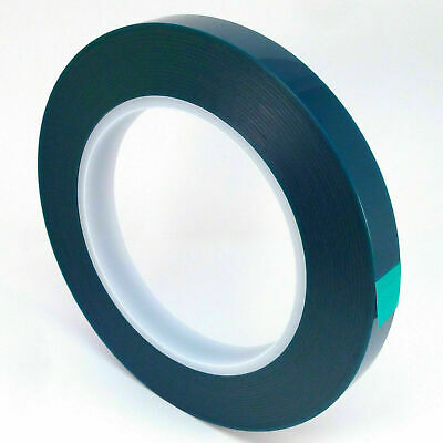 2 Green High Temp Powder Coating Anodizing Polyester Masking Tape 1//2 In.