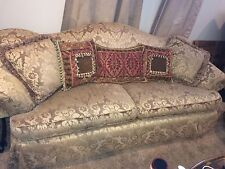 Silk Chenille upholstered sofa custom made excellent condition