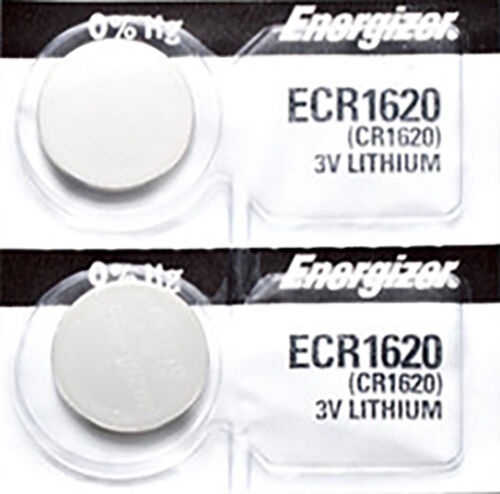2 x Energizer CR1620 Batteries, Lithium battery 1620