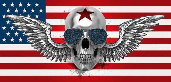 Faveron  Skull Flag Keilrahmen-Bild 55x115 Fashion Art Totenkopf Eurographics