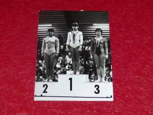 Col-J-DOMARD-GYMNASTIC-ORIGINAL-PHOTO-NADIA-COMANECI-EUROPE-Champ-1975-SKIEN