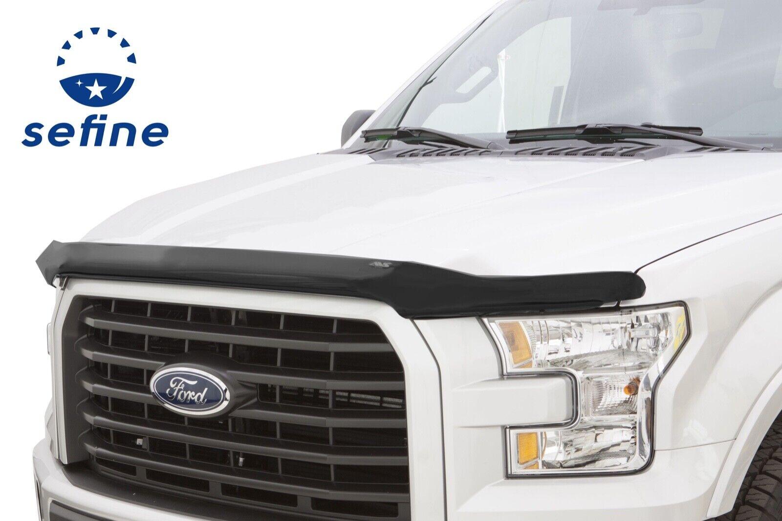 Fits Ford F150 2015-2019 AVS Hoodflector Smoked Bug Shield Hood Deflector