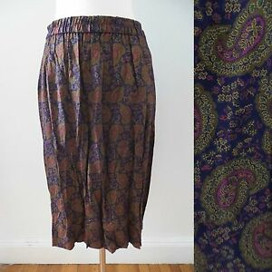 23d153369f Image is loading Talbots-Petites-size-MEDIUM-paisley-pattern-indigo-olive-