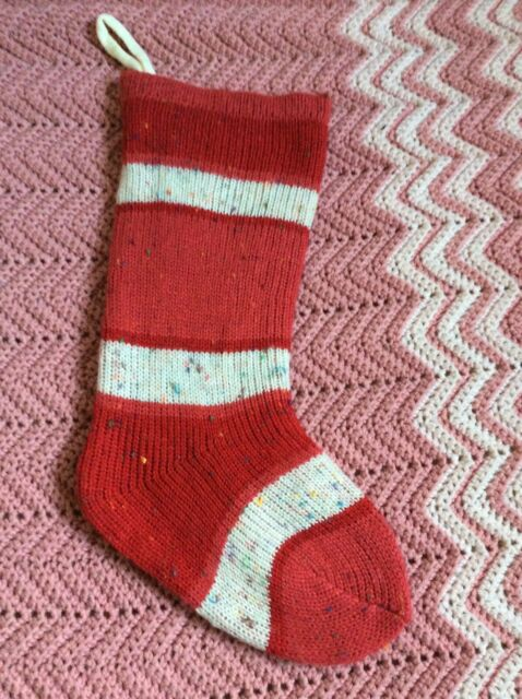 """Argyle Knit Knitted 20/"""" Holiday Stocking Xmas Green//Red Target"""