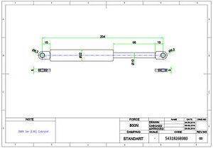 2x gasfeder gasdruckfeder d mpfer verdeckd mpfer bmw 3er. Black Bedroom Furniture Sets. Home Design Ideas