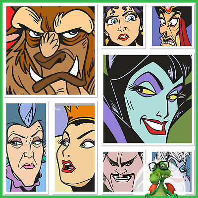 Topps Disney Collect Faces of Evil Card Set Award Blue Potion Iconography Set