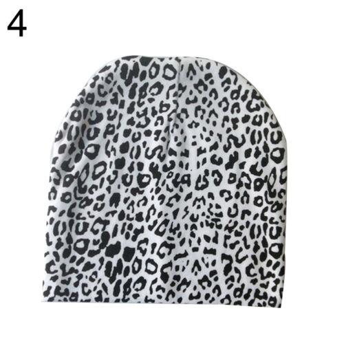 EG/_ Infant Newborn Baby Boy Girl Dots Leopard Print Beanie Cap Cotton Hat Splend