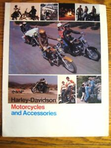 1975 Harley-Davidson Motorcycles Accessory Accessories Brochure, Original 75