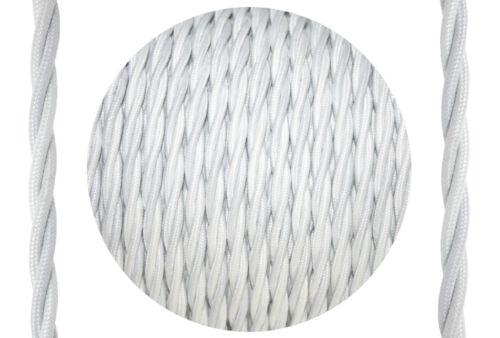 1 oder 2 Meter Textilkabel verseilt 3-adrig reduzierte Rollenendware Reststücke