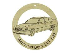 Mercedes Benz SEL 600 Maple Hardwood Ornament Sanded Finish Laser Engraved