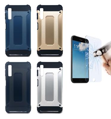 "6"" 4g Pt Etui Coque Housse Rigide Hybride Anti Choc Samsung Galaxy A7 2018"