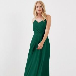 8d763af2820 Image is loading Weddington-Way-Camille-Bridesmaid-Dress-in-Evergreen-Size-