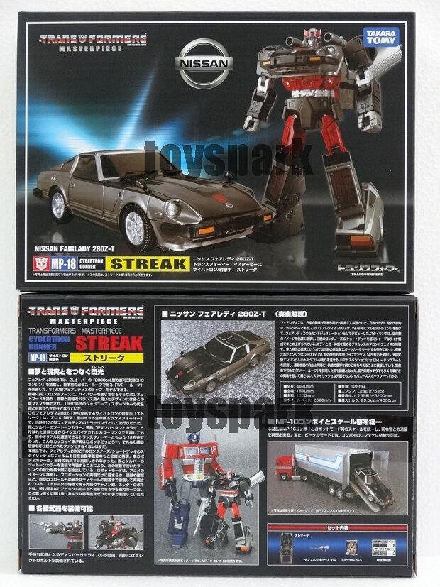 Takara Transformers Masterpiece Mp-18 azulstreak G1 Streak FAIRLADY Z Figura
