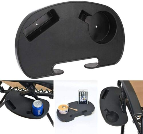 Oval Zero Gravity Chair Cup Holder Clip on Side Recliner Table Tray for Lounger