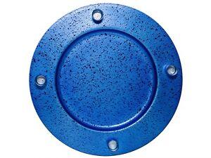 Deko-Teller-Adventsteller-Metall-mit-4-Kerzenhaltern-Blau-33cm