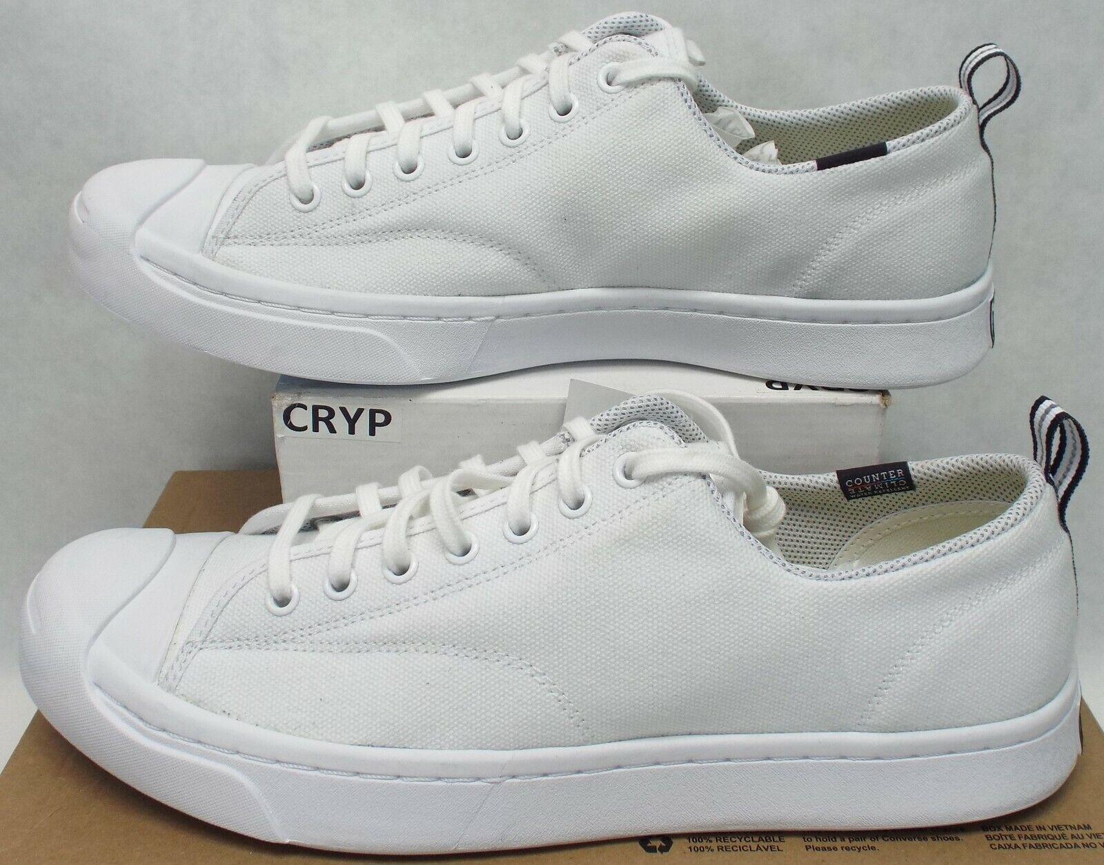 New Mens 11 Converse JP Jack M-Series OX Triple White Textile shoes  80 153618C