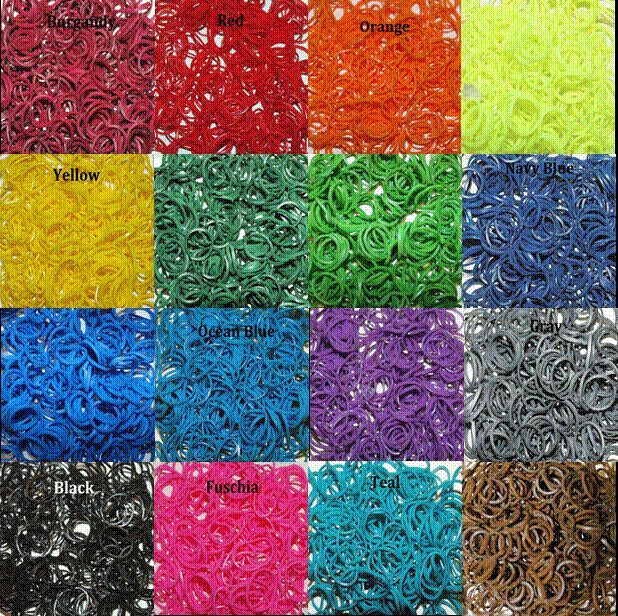 RUBBER BAND REFILL FOR RAINBOW LOOM  DIY - 50 COLORS 100/200/600PK - $2.50/600PK