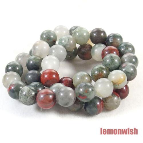 Natural African Blood Jasper Gemstone Spacer Beads 15.5/'/' 4mm 6mm 8mm 10mm 12mm