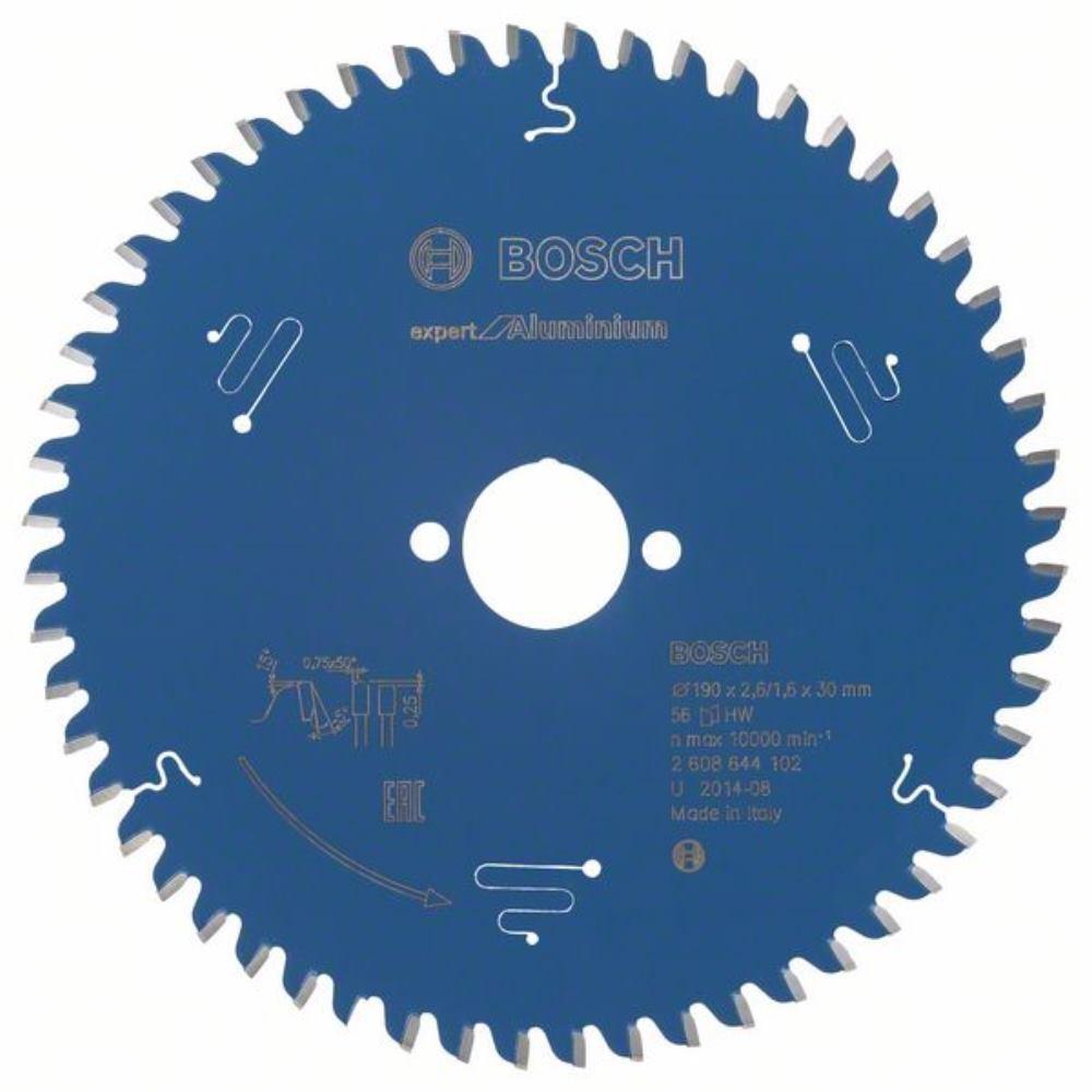 BOSCH Kreissägeblatt Expert for Aluminium, 190 x 30 x 2,6 mm, 56