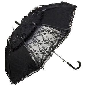 Juste Parapluie Steampunk Noir Blanc Mariage Parapluie Automatique Mariée Gothique Luna-m Automatik Braut Gothic Lunaafficher Le Titre D'origine PosséDer Des Saveurs Chinoises