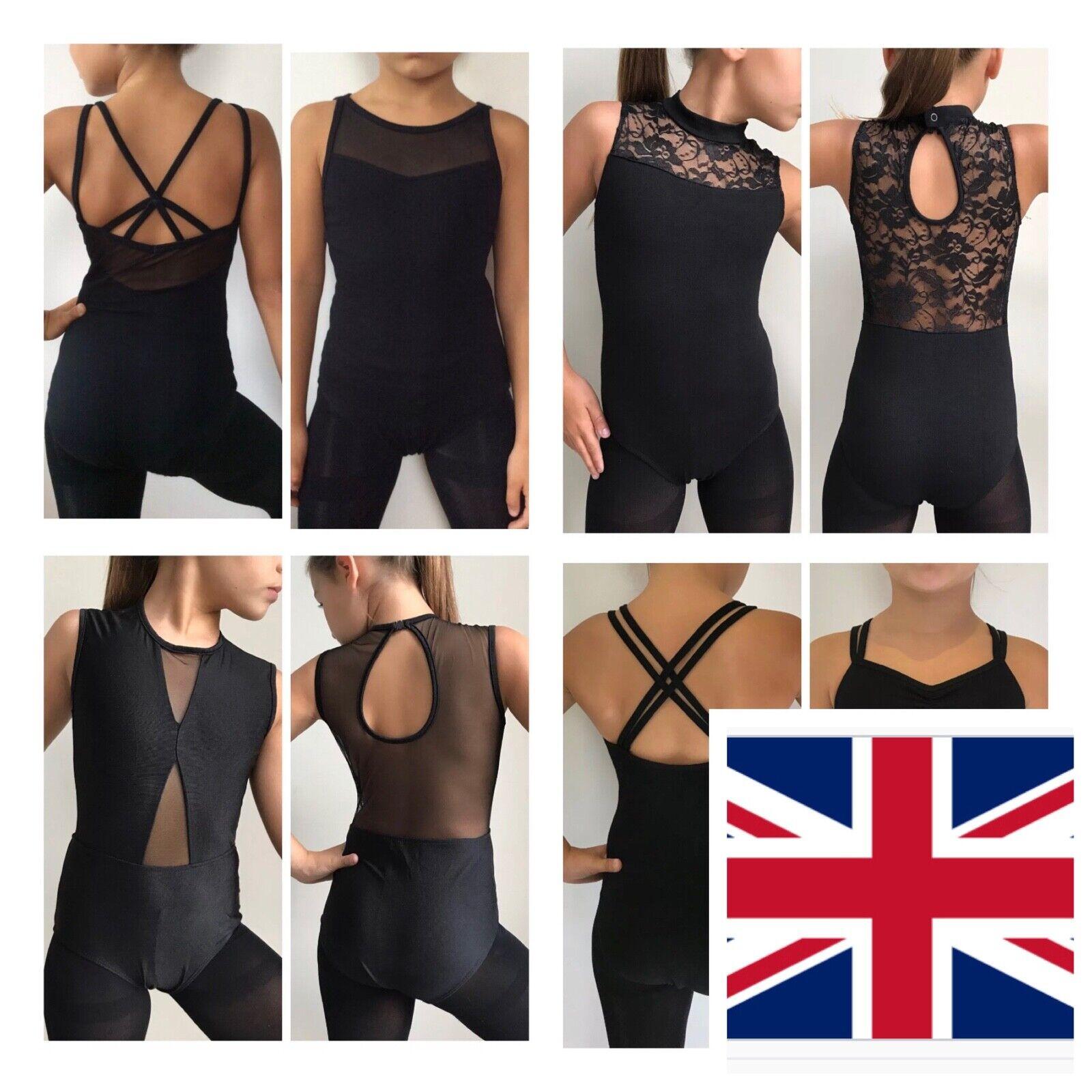 Leotard.Black Ballet Costume.UK Stock