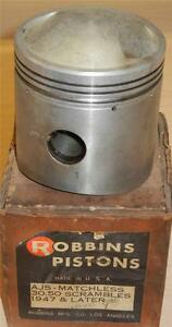 1950-55-Matchless-G80CS-500cc-NOS-82-5mm-010-034-bore-Robbins-bare-piston-ONLY-8
