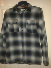 Mens Proper / Formal Shirt - Supreme Being - Blues Check Pattern - Size M