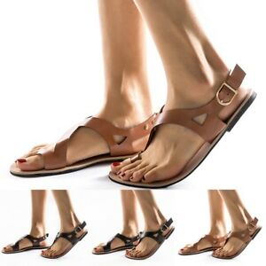 Ladies-Women-Summer-Soft-Gladiator-Sandals-Casual-Flat-Sandals-Beach-Shoes-Size