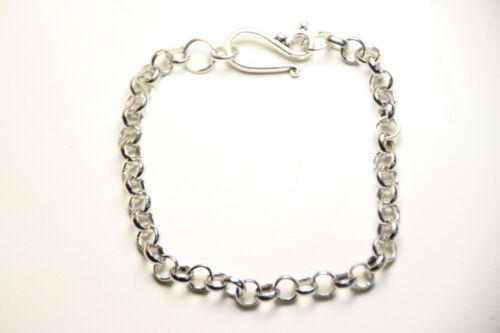 "Star Silver Charm Clip On Lobster Claw Clasp Create a Custom Bracelet 6/"" 8/"""
