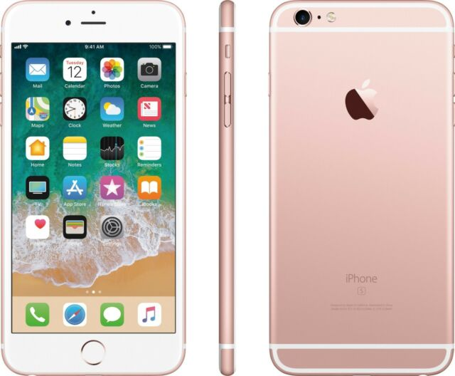 UNLOCKED Apple iPhone 6s Plus + 16GB 4G LTE GSM Video Smart Cell Phone Rose Gold