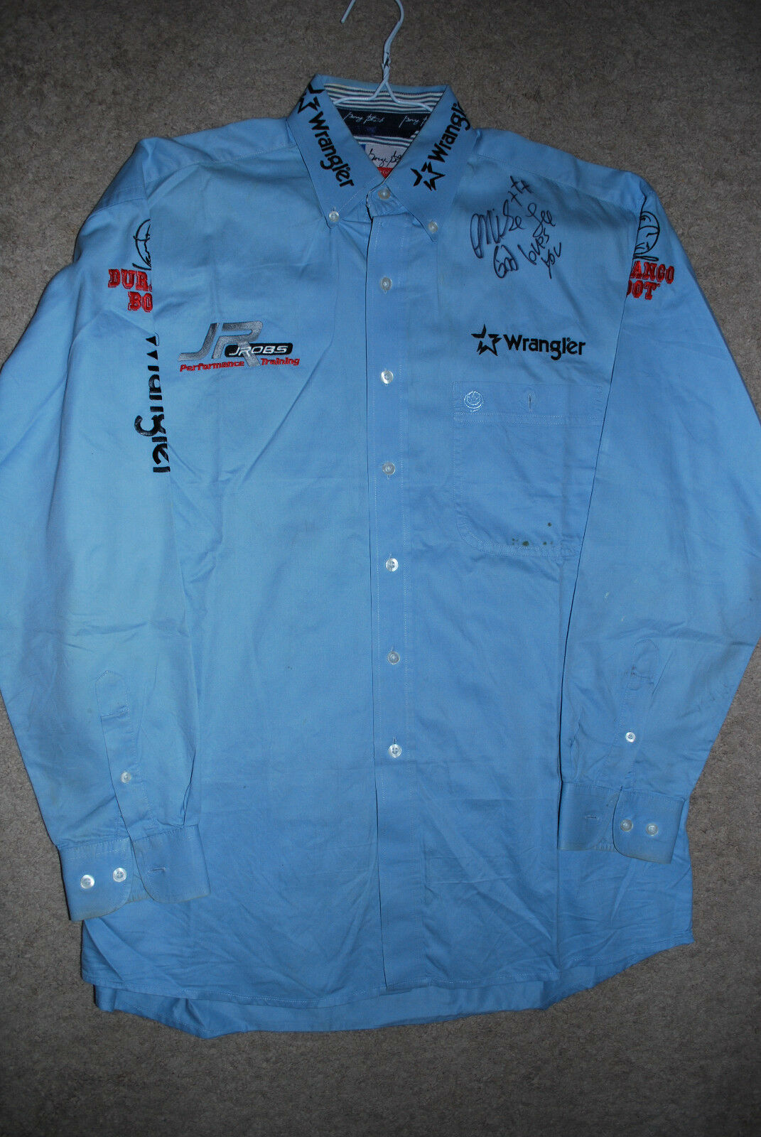 PBR Bull Riding Sponsor Shirt Pro Rodeo MIKE LEE PRCA Wrangler NFR Contestant