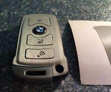 Silber Gebürstet Schlüssel Folie BMW Key E67 5er E67  6er 7er E65 E66 E M 3 Tast