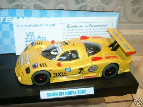 Dtcu) TEAM SLOT NISSAN SERIE LIMITADA SALON HOBBY BARCELONA 2002-slot 1 32 scale