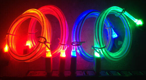 GLOW light-up LED Data Sync Cable charger MICRO USB for SAMSUNG smart phones