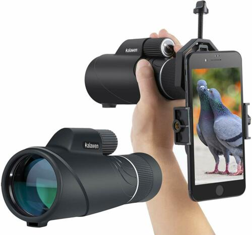 10-20x50 Zoom Monocular Telescope Compact with Smartphone Holder and Tripod