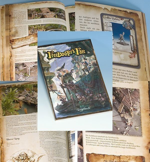Freebooter's Fate Rule Book (German) Freebooter Miniatures New FF001 2 Edition