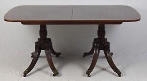 Details About Kittinger Regency Double Base Mahogany Dining Table Williamsburg Style