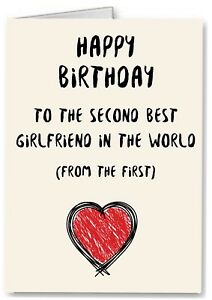 Image Is Loading Best Girlfriend Birthday Card Gay Lesbian Partner LGBT