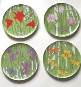 Villa-Vanilla-Palm-Beach-Franci-Plate-Set-4-Flower-Taste-Setter-Collection-135