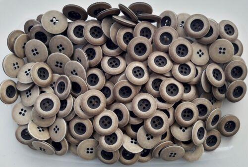 18mm 20mm 23mm Luz Marrón Marrón Oscuro Natural /& 4 agujero Matt botón Q456A-Q456C