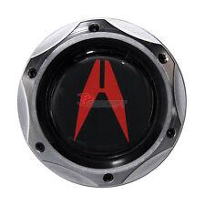 Gunmetal Engine Oil Filler Cap Tank Cover Aluminum Emblem For Honda Acura