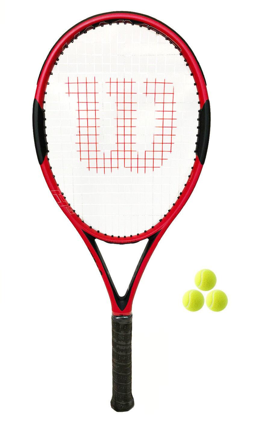 WILSON HAMMER RACCHETTA DA TENNIS H5 + 3 Palline Da Tennis RRP