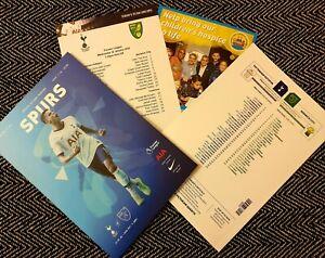 Tottenham-v-Norwich-City-Matchday-Programme-with-copy-teamsheet-22-1-20