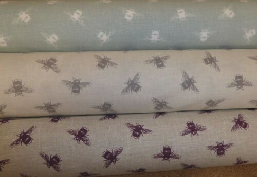 Curtains // Cushions // Upholstery BEES by Fryetts 3 COLOURS Cotton Fabric