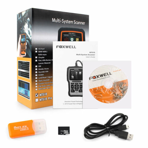 FOXWELL NT510 OBD2 Fault Code Reader Reset Diagnostic Scan Tool Fits CHEVROLET