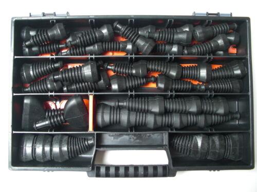 Superseal Gummitüllen-Set 2-6-polig 44 Teile Box Auto Motorrad Boot