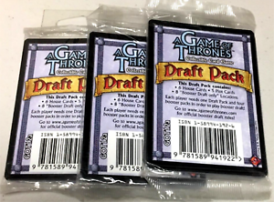 3 - A Game of Thrones Booster Draft Packs CCG Trading Card Game FREE SHIPPING