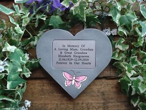 Personalised-Butterfly-Memorial-Stone-Heart-Grave-Marker-for-Garden-Cemetery