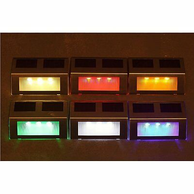 LED Solar Powered Light Path Stair Outdoor Garden Yard Fence Wall Landscape Lamp